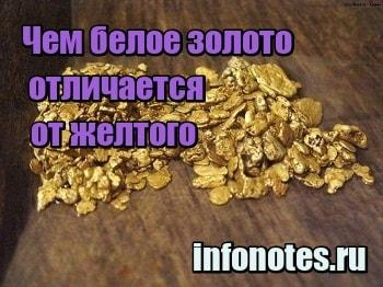миниатюра Чем белое золото отличается от желтого