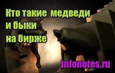 миниатюра Кто такие медведи и быки на бирже