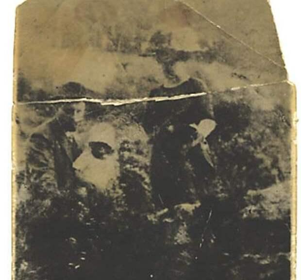 старая фотография с лицом