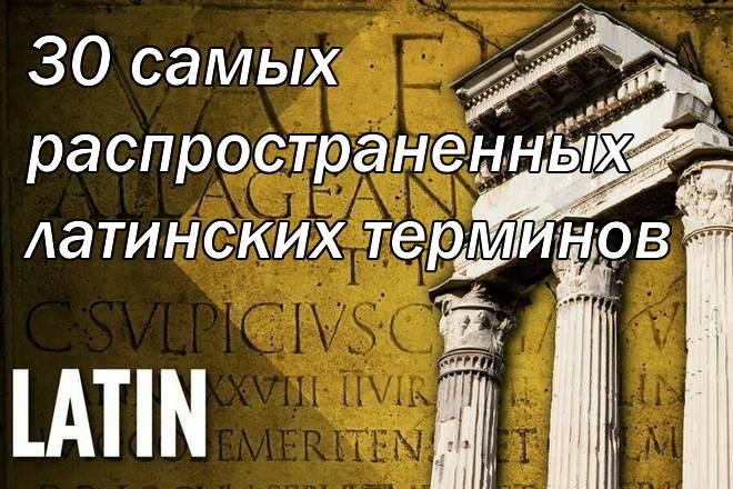 латинские термины