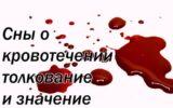 Сны о кровотечении – толкование и значение